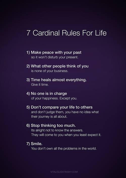 7 Cardinal Rules