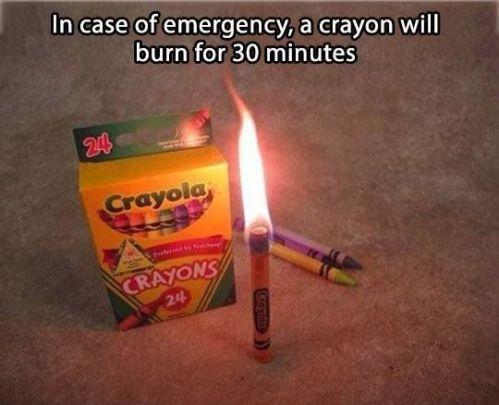 Crayon Candle
